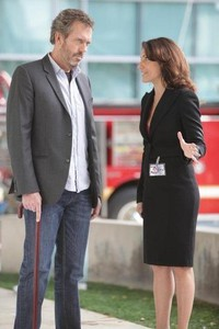 Hugh Laurie & Lisa Edelstein i House MD