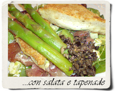 mozzarella in carrozza con salata e tapenade