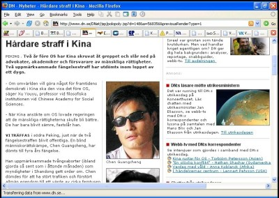 DN Kina 28 aug 2006