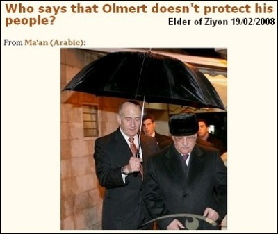 PM Olmert protecting his people
