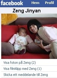 Zeng Jinyan med dotter - Facebook - screenshot