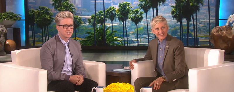 tyler oakley ellen degeneres youtube star