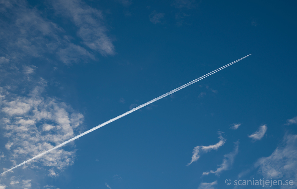 aeroplane in blue sky
