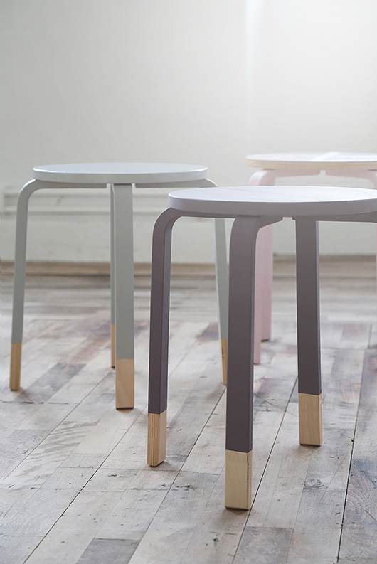 "[Trendenser](http://trendenser.se/2015/january/diy-forandra-med-farg-i-barnrummet.html|target=""_blank"") gave these [FROSTA stools](http://www.ikea.com/au/en/catalog/products/60162301/