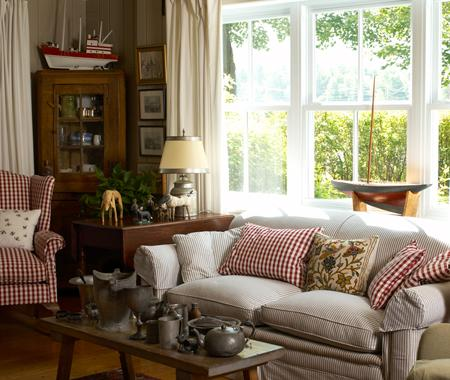 for Country cottage decorating ideas living room