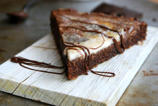 Gluten free brownie with mascarpone (no added sugar) - Glutenfri brownie med mascarponefyllning (utan tillsatt socker)