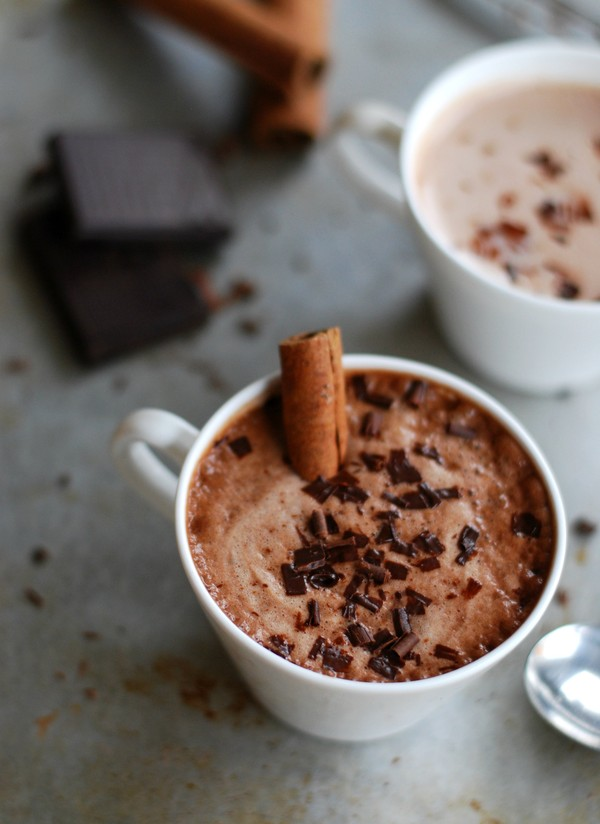 Pumpkin hot chocolate (no sugar added) - Varm choklad med pumpa (utan tillsatt socker)  //Baka Sockerfritt