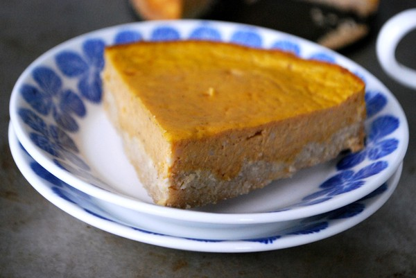 Pumpkin cheesecake, gluten free, no added sugar - Pumpacheesecake glutenfri, utan tillsatt socker