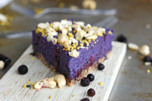 No bake blueberry cheesecake //Baka Sockerfritt