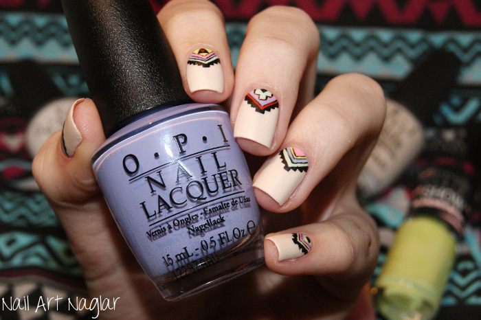 matte tribal nails