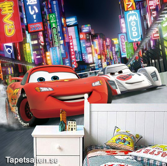 3D Tapet cars bilar disney