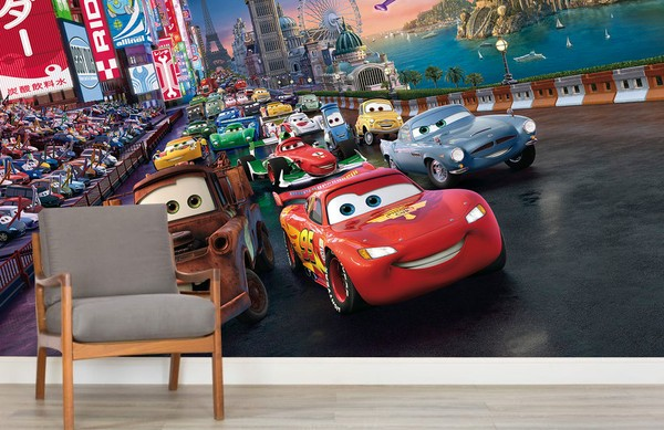 Disney Cars Tapet Bilar Pixar Fototapet Barn Tapet Barntapeter Killrum