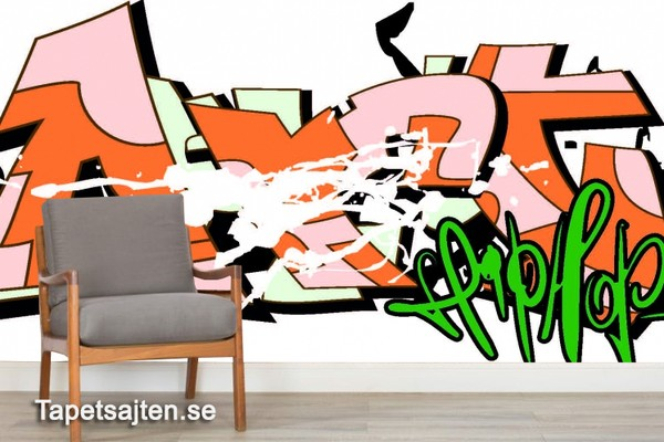 Fototapet Graffiti Tapeter Graffiti Tapet Ungdomsrum