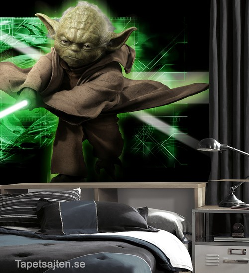 star wars tapet yoda killrum sovrum pojkrum ungdomstapet