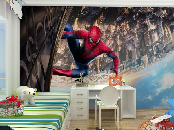 Fototapet Spiderman Tapet Barnrum