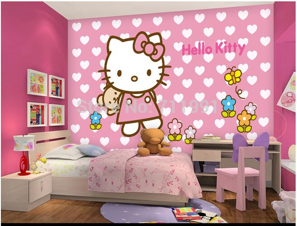 Hello Kitty Tapet Rosa Tapet Tjejrum