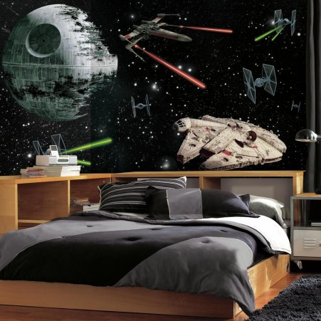 star wars death star tapet