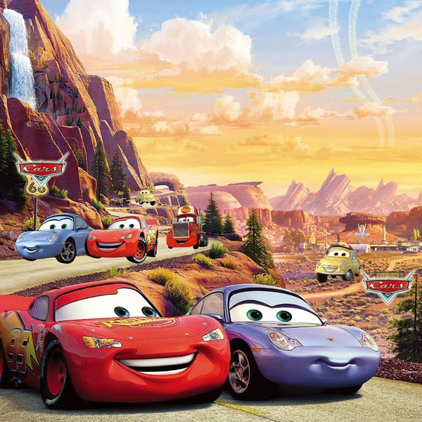 Tapet Bilar Disney Cars Tapet Barn Fototapet Barnrum