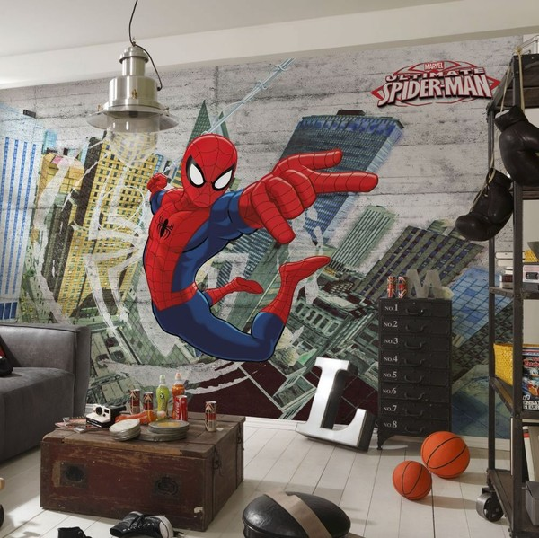 tapet marvel fototapet Superhjältar Tapet spiderman barnrum barntapet killtapet pojkrum