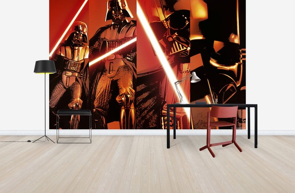 Coola Tapeter Ungdomsrum Star Wars Tapet Darth Vader