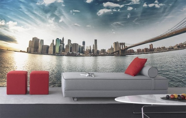 Fototapet New York tapet manhattan skyline fototapet vardagsrum hav 3d