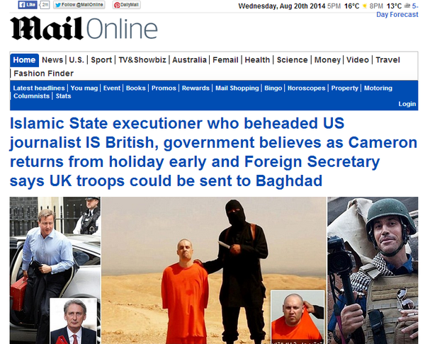 Daily Mail 2014/08/20