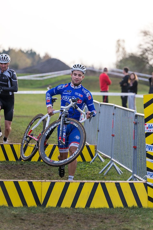 Nacer Bouhanni took part of the 2014 Cyclo cross international de Dijon