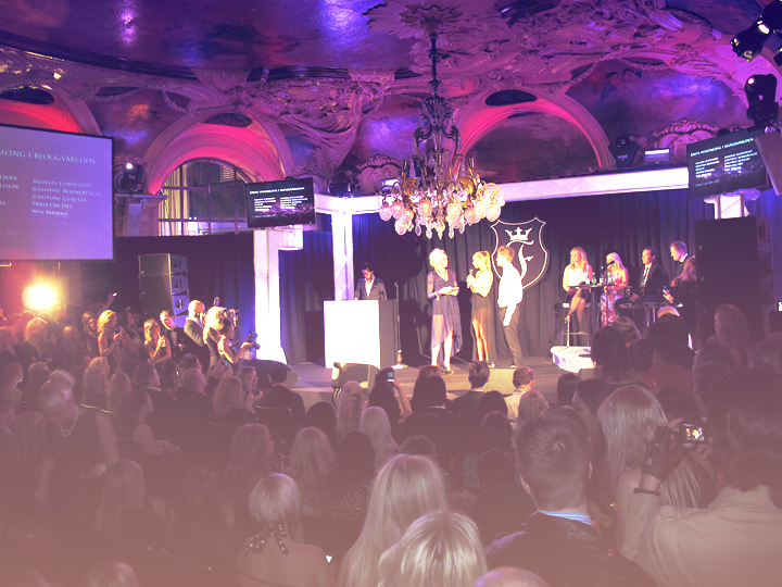 finest awards, finest awards 2012, gala, café opera, stockholm, bloggare, modebloggare