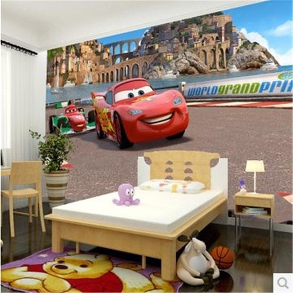 Fototapet barn Disney Cars killtapet kille
