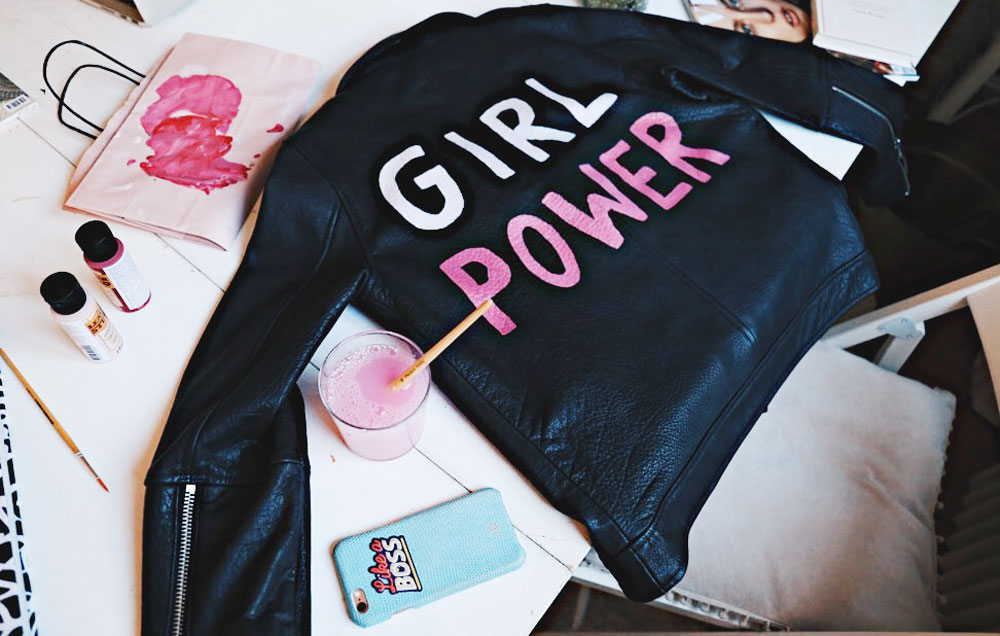 DIY: Girl Power Skinnjacka ☆ Josefin Dahlberg Metro Mode