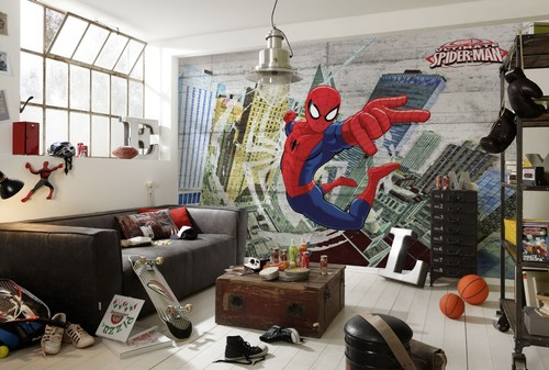 Fototapet Barn Spiderman Barntapet Barntapeter tapet barnrum Killtapet Killrum