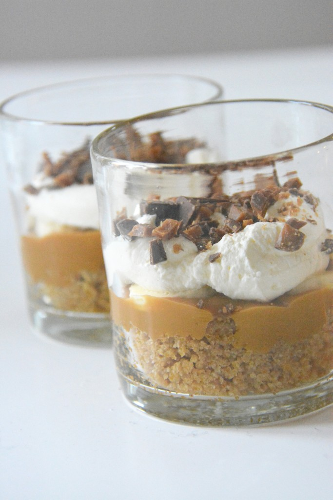 banoffee pie i portionsglas
