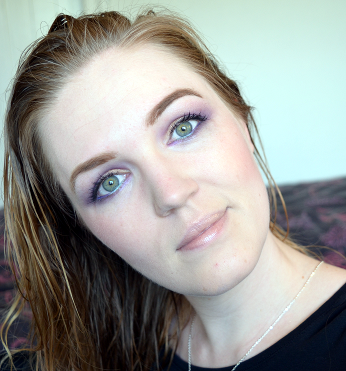 mint lila purple makeup look3