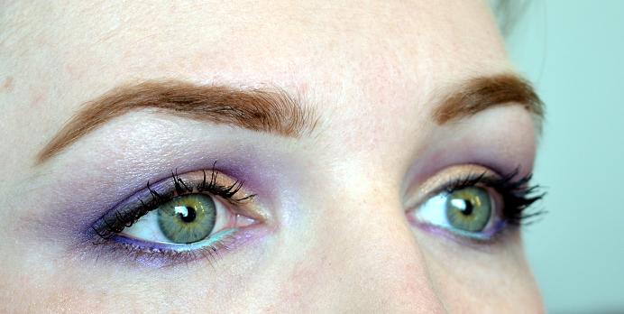 mint lila purple makeup look4