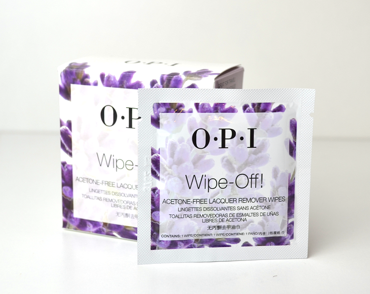 opi wipe off wipes travel remover
