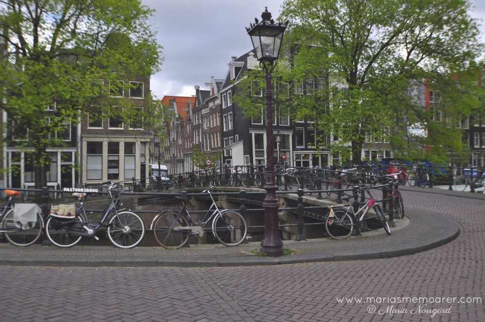 plenty of bicycles and canals in Amsterdam, Netherlands