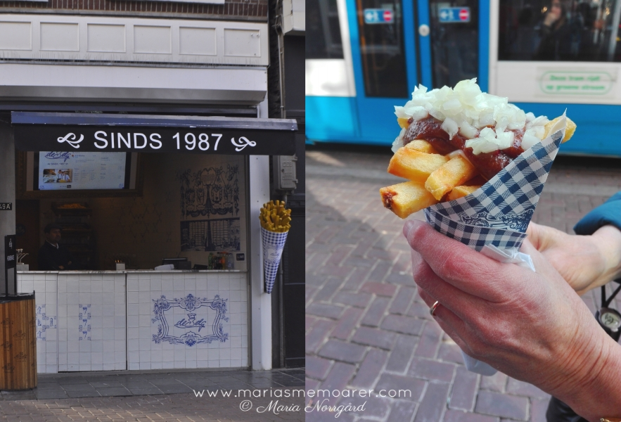 things to eat in the Netherlands: oorlog fries / smakupplevelser i Holland: pommes frites i strut