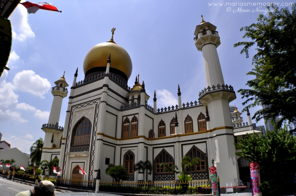 masjid sultan mosque on Muscat Street, Singapore / moské i Arab Quarter