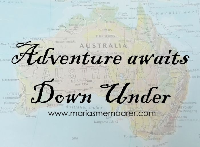 adventure awaits Down Under - going to Australia! Nästa äventyr blir till Australien!