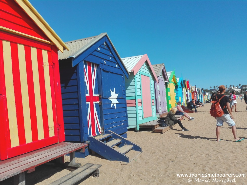 Bathing boxes on Brighton Beach, Melbourne