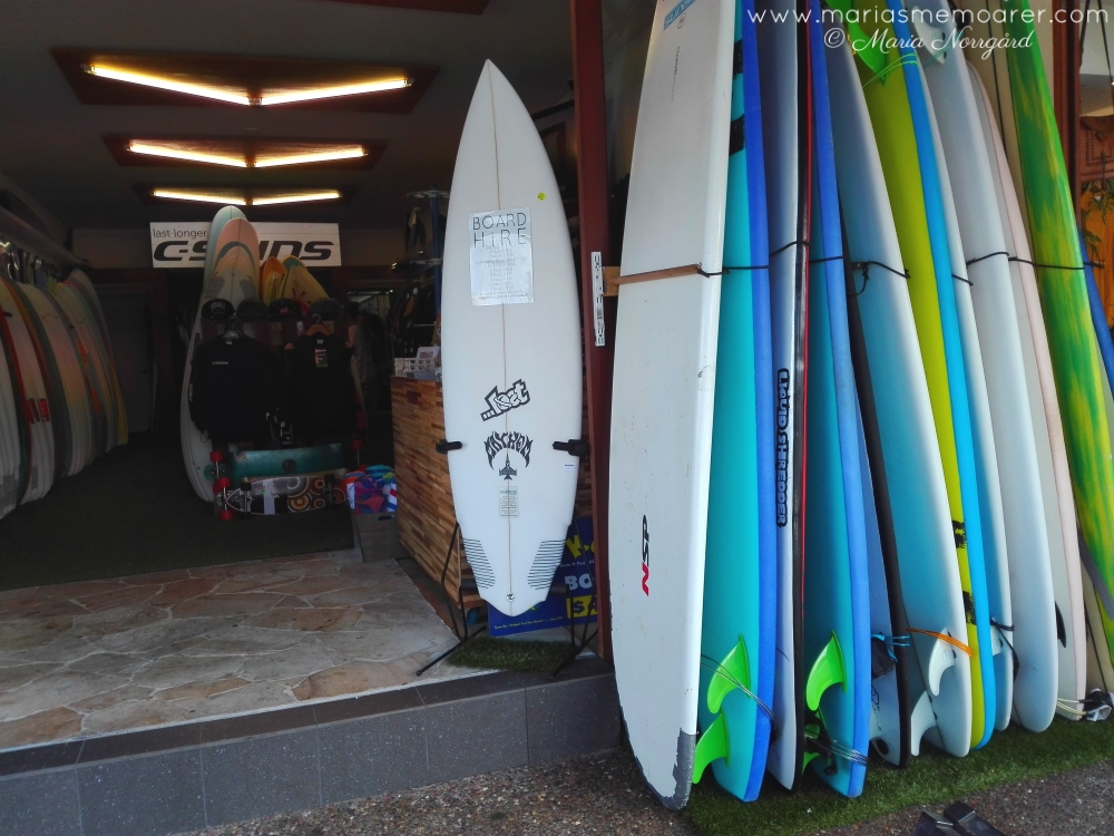 surfer shop in Byron Bay, Australia