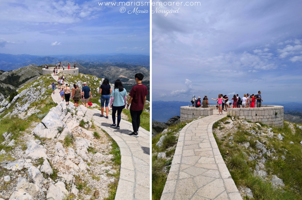 Mt Lovcen, Njegos mausolem viewpoint in Montenegro