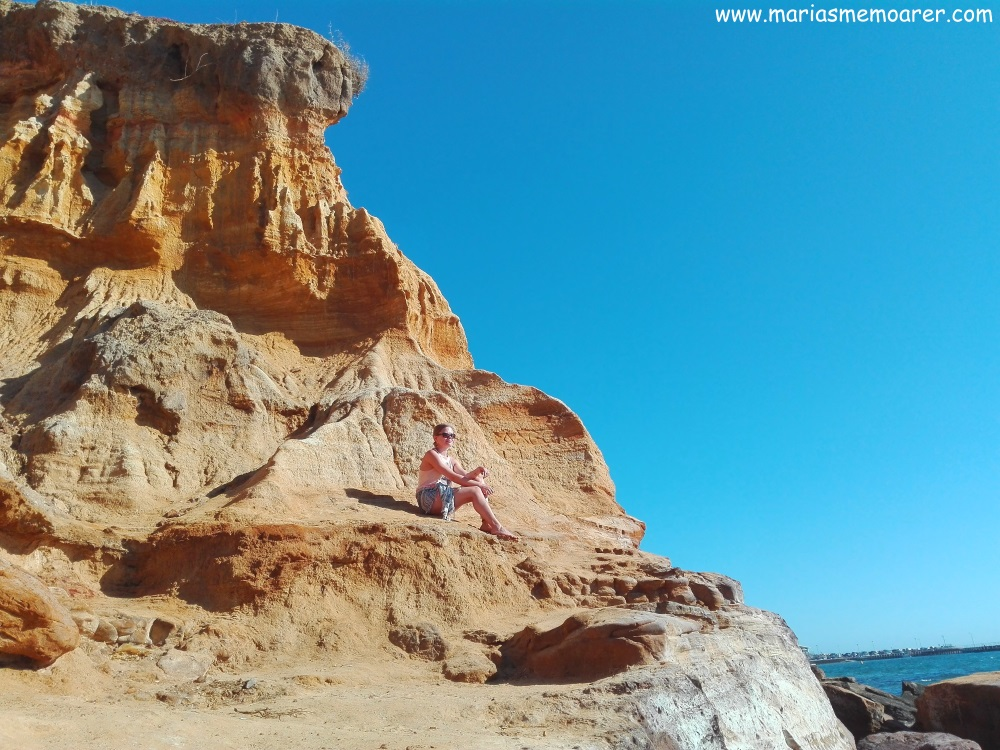 Visit Melbourne, Victoria - Half Moon Bay with its stunning red bluff cliffs