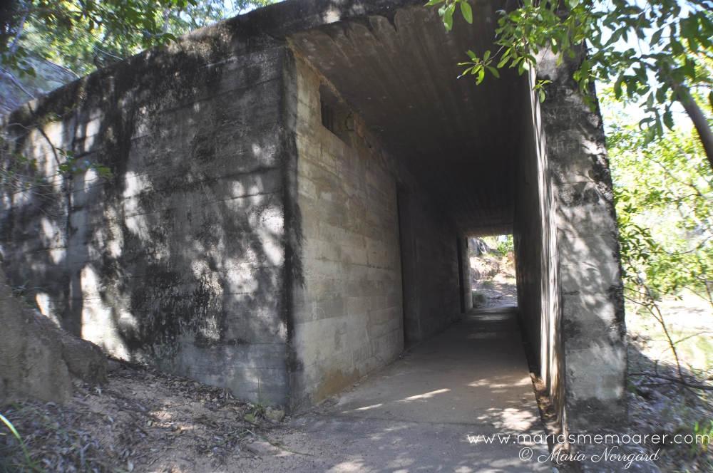historical WWII building on the Forts Walk, Magnetic Island