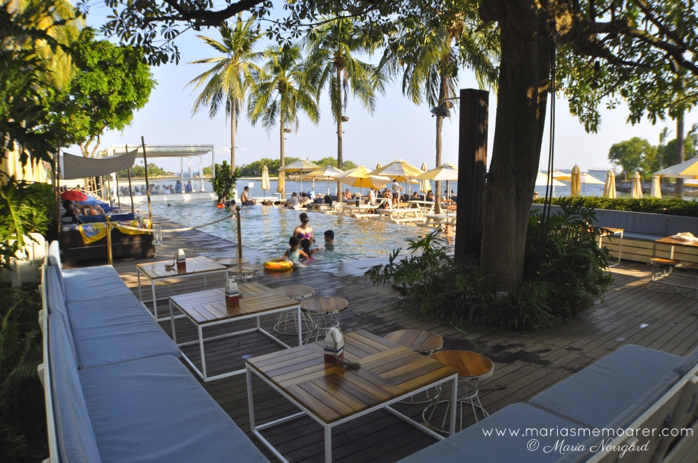relaxation at Tanjong Beach Club, Sentosa Island, Singapore