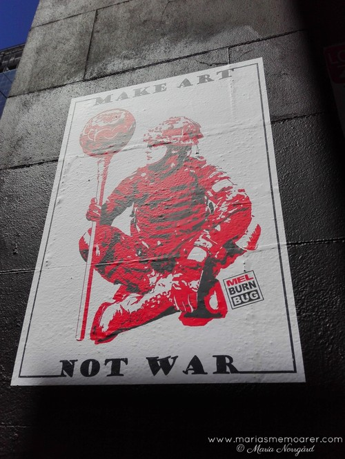anti war street art by Melburn Bug, Melbourne Australia