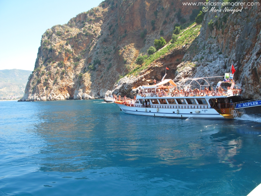 båtutflykt vid Alanya i Turkiet / boat tour at Alanya, Turkey