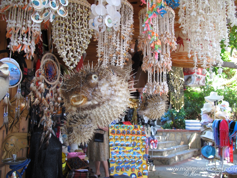 souvenirer i Alanya, Turkiet - blåsfisk / souvenirs in Turkey - blowfish