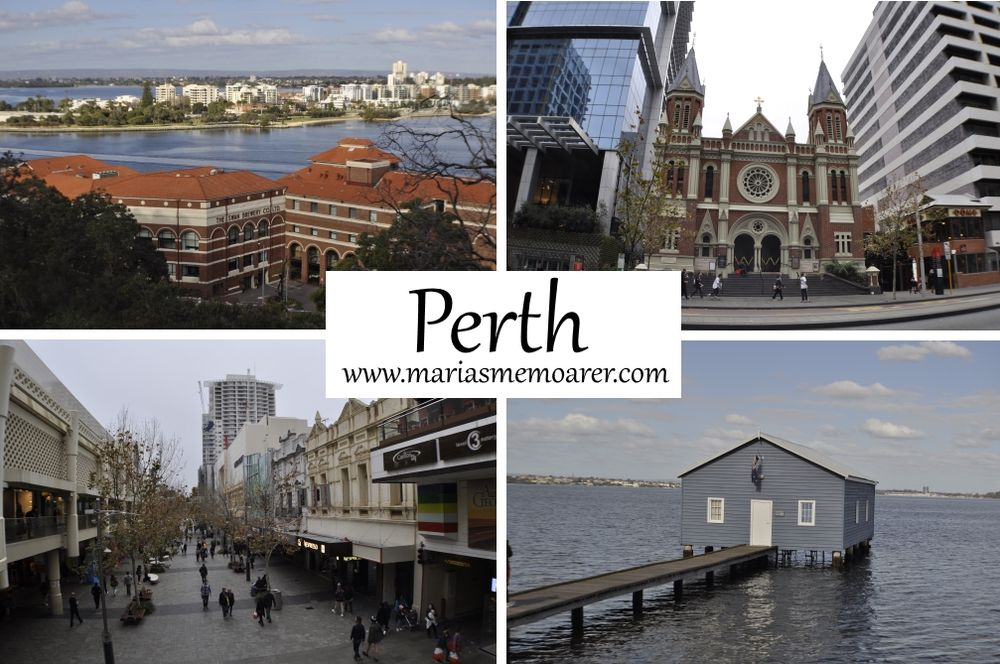 Perth city, Western Australia / Australien - Swan River and The Old Brewery & Riverside Brewhouse, Trinity Uniting Church, cbd, Blue Boat House