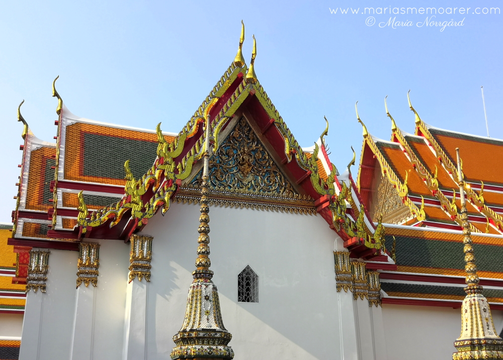 Wat Pho - amazing buddhist architecture in Bangkok